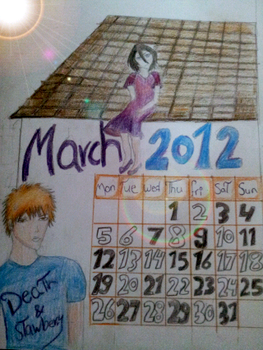 March calander 2012 by mystery18knight
