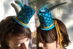 Blue Mardi Gras Tiny Top Hat by TinyTopHats