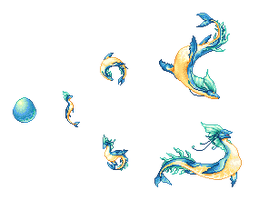 Tropical Seadancers for Dragcave by AngHuiQing