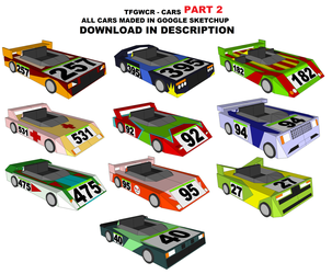 SketchUp Models - All TFGWCR Cars (Part 2) by TeamFaustGames
