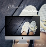 Wallpaper Blue shoes by Isfe