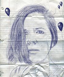 Ballpoint Pen Self-Portrait by simdragon90
