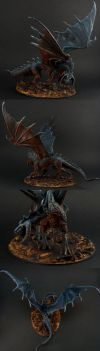 Ebonwrath Black Dragon - multi-angle by the-least
