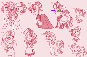 Starlight Twins Sketches by CarouselUnique