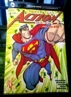 Action comics sketch cover FB by skulljammer