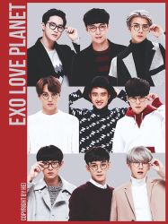 EXO LOVE PLANET 9P png by hyukhee05