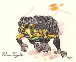 H. P. Lovecraft Creature by Emissary4Penguins