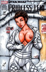 Naughty Hoth Leia sketch cover by gb2k