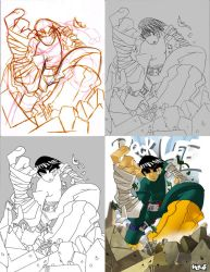 Steps-Rock Lee by herms85