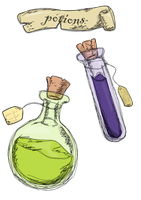Potions. by laminimouse