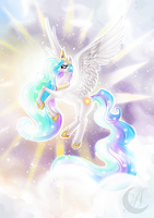 My Little Pony: princess Celestia by Anzhelee