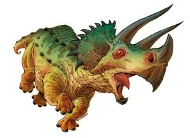 Triceratops by RobbVision