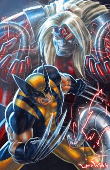 Wolverine Vs Omega Red by LordWilhelm