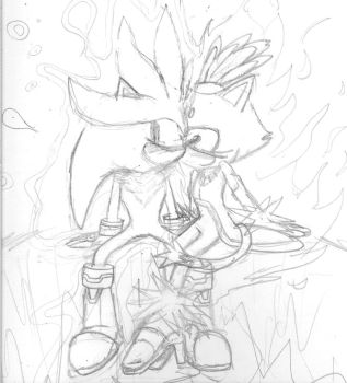 Silver and Blaze Blushing by Aros2