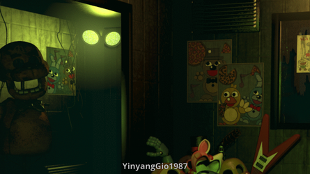 C4D|GIF|FNAF3|Springtrap Jumpscare by YinyangGio1987