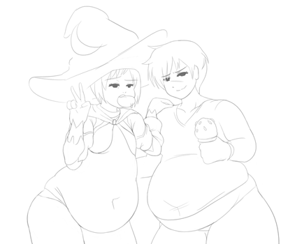 Another Dumb Fat Straight Couple (kind of WIP) by Cosmo-naut