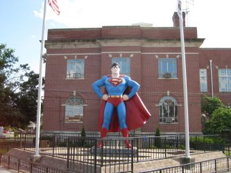 Superman at Metropolis by Celebrith