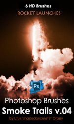 Shades Rocket Launches HD Photoshop Brushes by shadedancer619