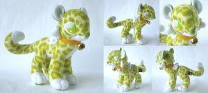 Ginger Belle Sky Leopard Plush by Pwyllo