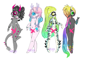 One is open adopts 1/4 by XenoBaby