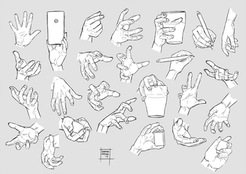 Sketchdump December 2017 [Hands] by DamaiMikaz