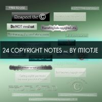 Copyright Notes By M10tje by M10tje