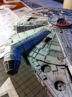 Millenium Falcon Papercraft (WIP) by Ohnhai