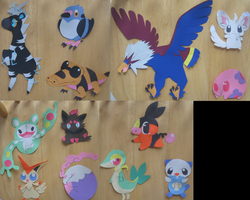 5th Gen Pokemon Papercrafts