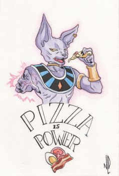 Pizza is Power!!! by Nyahnah