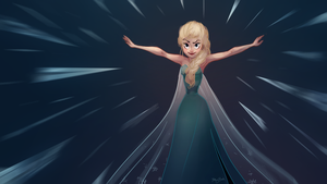 The Cold Never Bothered Me Anyway by meghanart