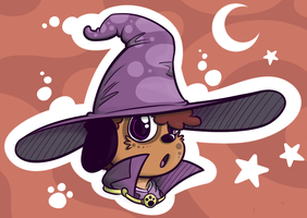 Yur a Wizard, Puppy by KazJester
