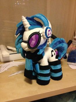 DJ Pon3 Pony Plush Handmade Custom My Little Pony by Burgunzik