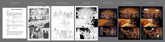 Old Bones Page Progression by rianmiller