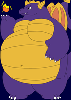 Big Bellied Spyro (Colored Version) by FoxPrinceAgain