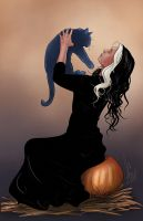 A witch and her familiar by JamieCOTC
