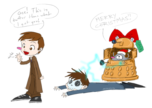 Doctor Who Torchwood Xmas by psocid
