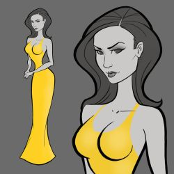 DAT YELLOW DRESS by gelipe