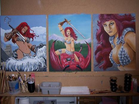 The Drawing Board of Sonja by DChan75