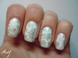 Snowflakes Nail Design by AnyRainbow