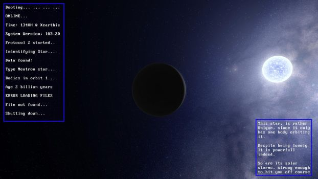 Planet Unidentified with its neutron star. by nicebullshit