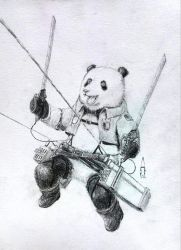 Combat panda (Attack on Titan fanfiction) by SilverBulletArt
