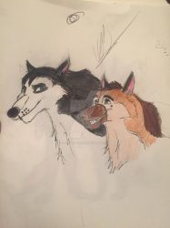 Steele and Jonathan (request/gift )  by kellywolfdog123