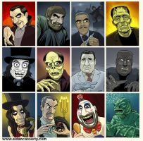 Classic Horror Portraits - COLOR by DadaHyena