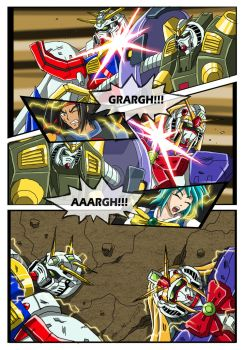 Commission - G Gundam X Power Rangers - Page 1 by punkbot08