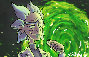 Rick Sanchez by Erkfir