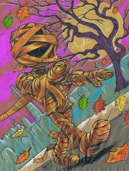 The Pumpkin Mummy by Schoonz