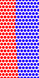 Red and Blue Dots by AdrenalineRush1996