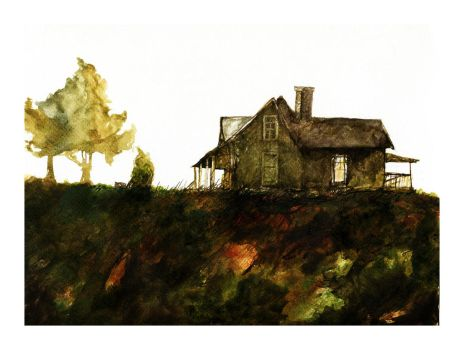 Apple Hill, watercolor. by LevonHackensaw