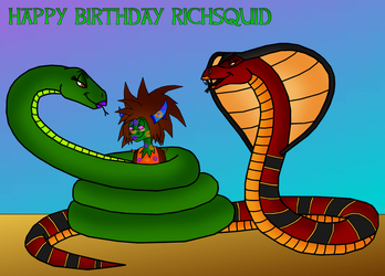 Bday gift: Hisses and Kisses! by Thornacious