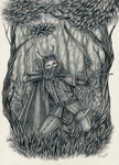 Commission: Hunters forest by ArunaWolf
